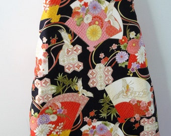 Ironing Board Cover - Asian oriental fans with gold trim