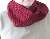 Knitted Bordeaux Scarf - Unisex