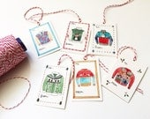 SALE 50% off: Ugly Sweater Gift Tags, set of 12