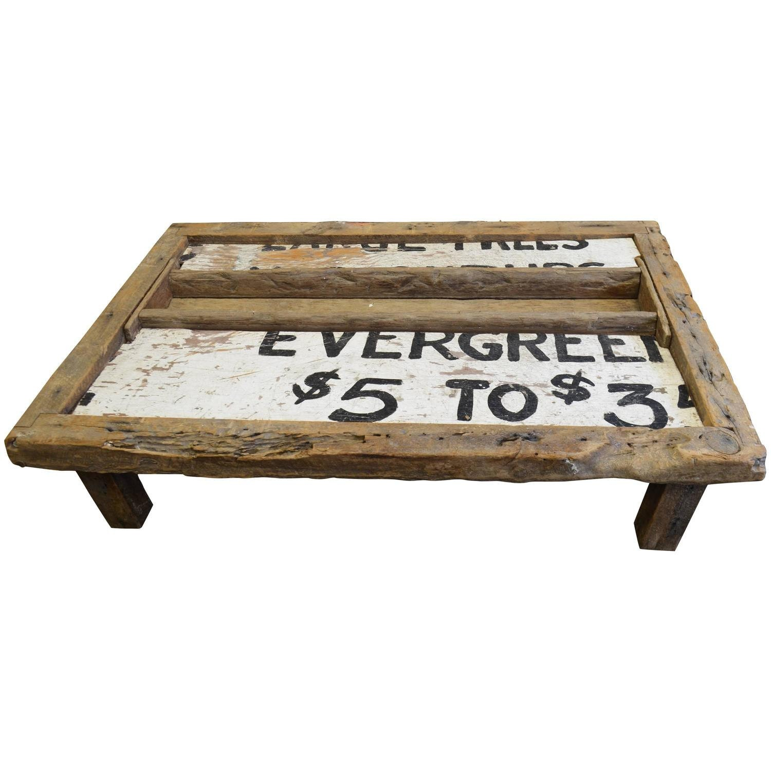 Primitive Coffee Table Of Barn Wood With By Unearthedgallery