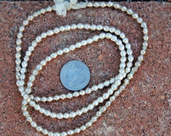 African Silver Bicone Beads: (4x4mm)