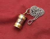 Cremation jewelry, antique style ashes necklace