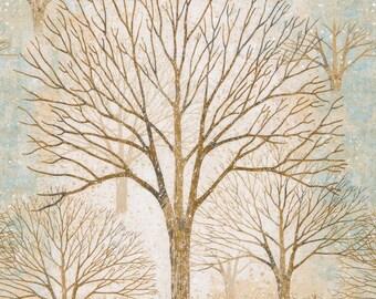 Sound of the Woods 2 - Silver Frost Metallic - Robert Kaufman - Fat Quarter