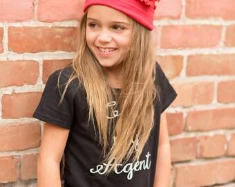 Boutique cancer kids Flower hat