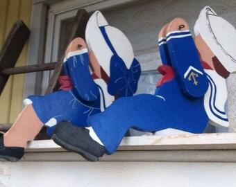 Sailor Girl & Boy Wood Handmade Cutouts