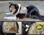 Custom Military print Service Dog Vest for Diesel