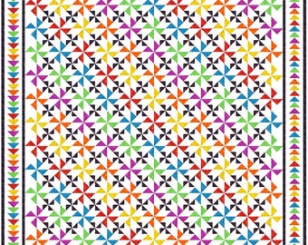 """CONFETTI - 105""""x 105"""" King or 89""""x 89"""" Queen - Quilt-Addicts Pre-cut Quilt Kit or Finished Quilt"""