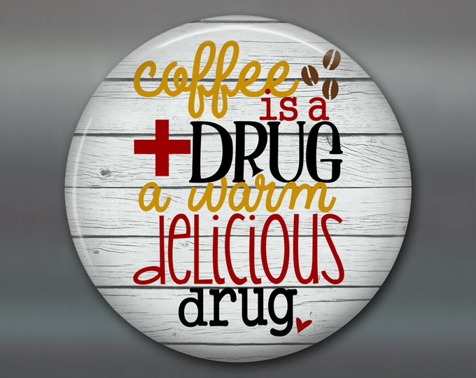 """3.5"""" rustic wood sign gift - rustic housewarming gift - rustic sign kitchen decor sign - coffee is a drug - modern rustic decor MA-WORD-12W"""
