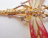 Nolan Miller dragonfly pin brooch Glamour Collection signed rare