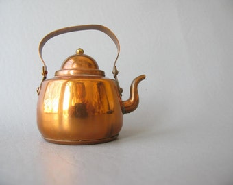 Vintage Toy Copper Teapot, small