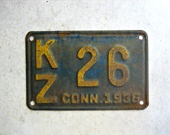 1936 Connecticut License Plate