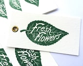 RESERVED for Monica: 50 fresh flowers tags