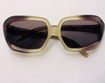 Vintage 1960's Style Sunglasses Made in Italy: Extra-Wide Frames