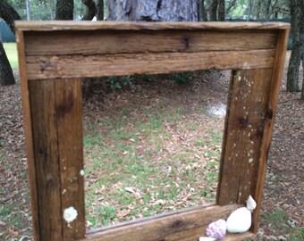 Lobster Trap Wall Mirror~ Rustic Mirror~Nautical Driftwood Mirror~ Driftwood~Wall Decor~Tiki Bar Mirror~Fun Gift~Unique Mirror