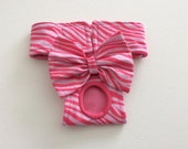 Female Dog Diaper - Dog Panty - Pink Tiger Stripe - Available in all Sizes