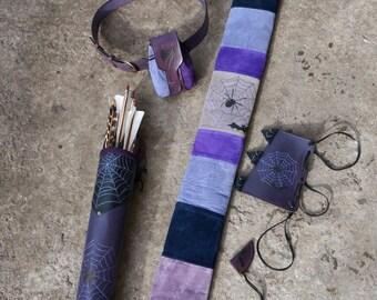 An Archery Set Black And Purple Bat & Spider