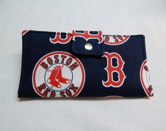 Red Sox Wallet, Baseball Wallet, Boston Red Sox, Bifold Clutch Wallet, Made in USA