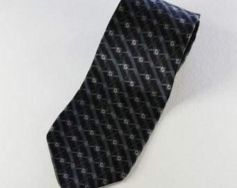 SALE - Vintage Modern Pattern Silk Necktie