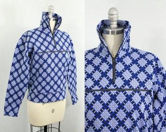 ski sweater - 60s ski jacket - vintage ski wear - 1960s Norheim ski pullover - 60s clothing