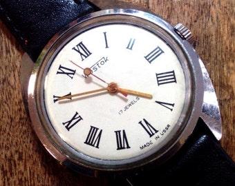 25% SALE OFF Vintage wrist watch Vostok mens watch men watch mens watch white watch, classic watch, mechanical watch