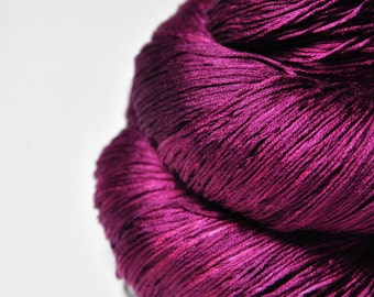 Burning red fuchsia - Silk Lace Yarn