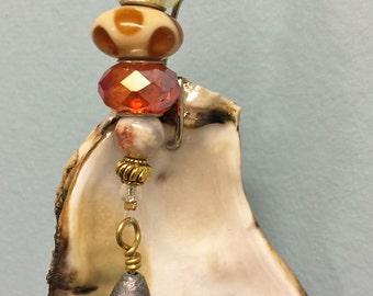 Oyster Shell Key Fob