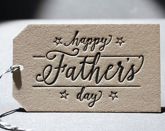 Letterpress Gift Tag  - Father's Day
