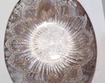 BOWL Dorothy Thorpe Mid Century Applied Silver