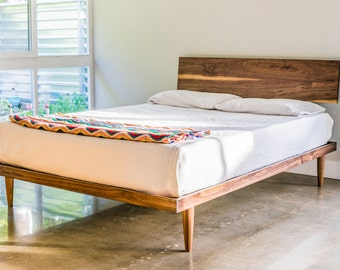 The Western Bed (Mid Century Modern Style Platform Bed)