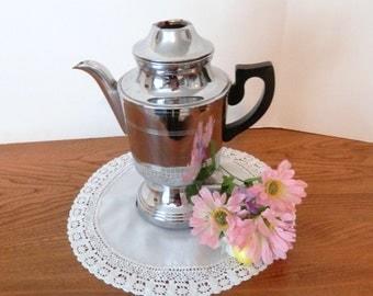 Vintage Electric Percolator - Decorative Coffee Pot - Non-Working Pot for Decoration