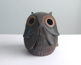 Stoneware Designs West Ceramic Owl Candle Lantern California Pottery