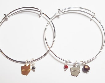 Ohio Charm Bangle Bracelet | Ohio Pride Jewelry