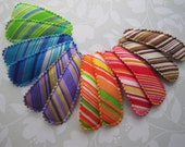 Diagonal Stripes . snap clip pair . toddler hair accessory . choose your color . green blue purple orange red brown