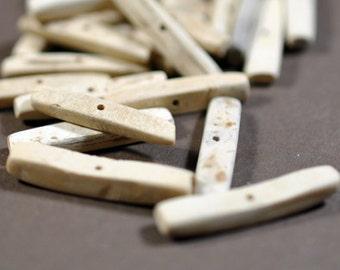 "Coco sticks, center drilled, natural color, 1"", #869"