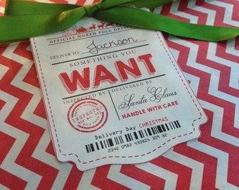 Want need wear read etsy want need wear read gift tags from santa claus gift tags from santa official north negle Choice Image