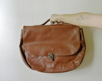 25% OFF SALE Vintage Brown Leather Satchel with Multiple Compartments Christmas Gift Guide