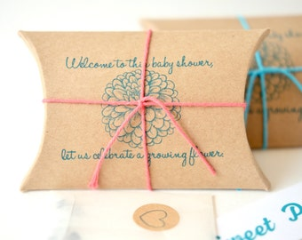 Baby shower favors. Sweet seed favors for celebrating a growing baby! Ready to ship. Set of 10.