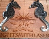 Small Seahorse Earrings by Industrious Light Exclusively for Papusza Couture