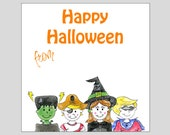 Costume Halloween Gift Tags ~ INSTANT DOWNLOAD ~ printable gift favor tags
