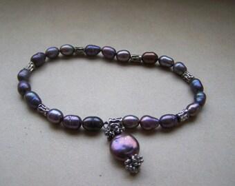 CLEARANCE Dark Baroque Fresh Water Pearl Bracelet