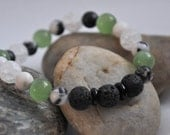 Essential Oil Diffuser Stretch Bead Bracelet, Diffusing Lava Beads