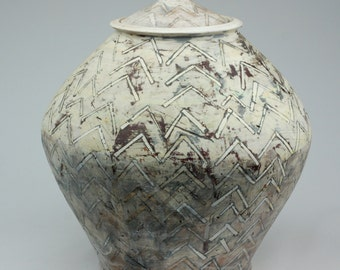 Jar with Triangle Pattern