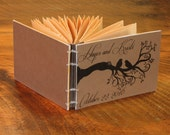 Rustic Bird Wedding Guest Book, Vintage Wedding Journal, Anniversary gift, Photos, Baby Book
