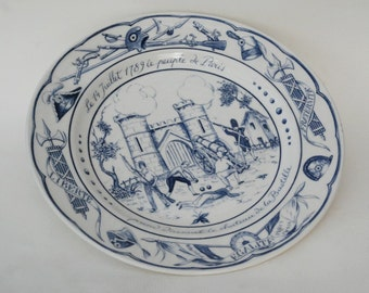 French bastille day 14 juillet celebration plate ceramic, July 14 commemoration, Collectibles