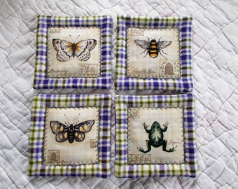Natures Quilted Coasters (Set of 4)