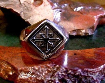 Chaos Ring in Solid Sterling Silver Free Domestic Shipping