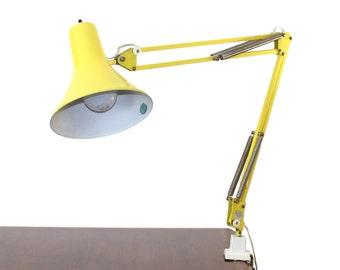 Luxo Architect's Desk Lamp in Yellow Mid-Century Modern