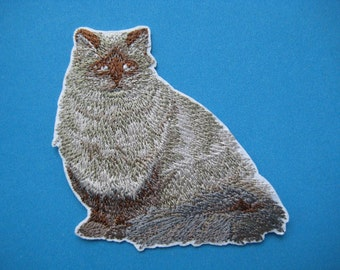 Sale~ Iron-on Embroidered Patch Cat 2.75 inch