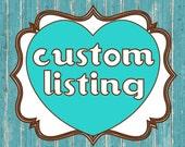 CUSTOM LISTING for (Taciane Rossi) -8 x 10 Honeymoon Fund (custom colors)---Printable PDF File