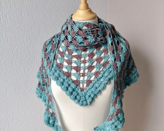 Crochet pattern : Alles Sal Reg Kom Shawl